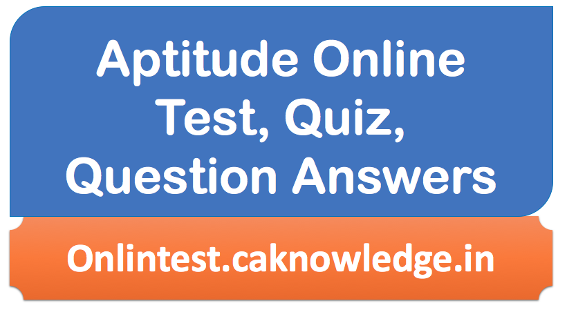 Aptitude Online Test