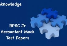 RPSC Jr Accountant Mock Test Papers