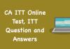 CA ITT Online Test