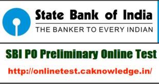 SBI PO Online Test