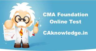 CMA Foundation Online Test
