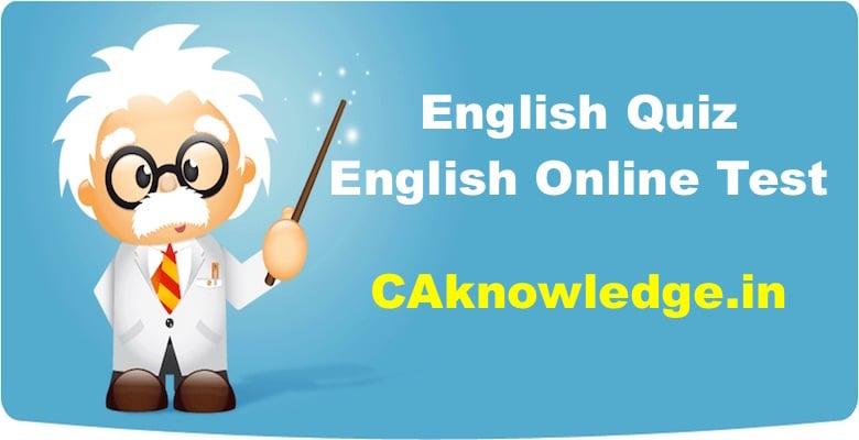 English Quiz, English Online Test