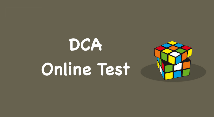 DCA Tally Online Test in English, DCA Tally Online MCQ in English
