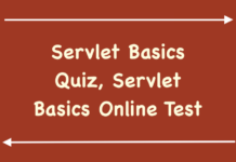 Servlet Basics Quiz