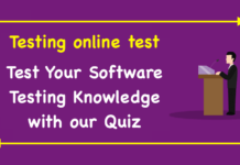 Testing online test