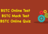 BSTC Online Test