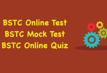 BSTC Online Test