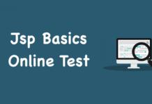 Jsp Basics Online Test