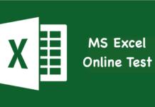 MS Excel Online Test