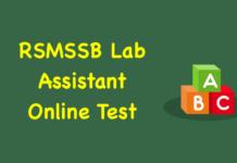 RSMSSB Lab Assistant Online Test