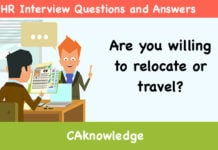 Are You Willing To Relocate Or Travel? U2013 HR Interview Questions And Answers