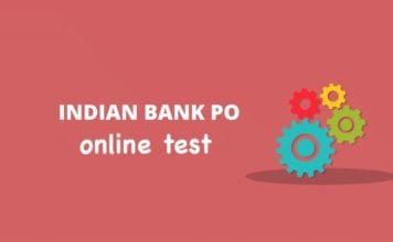 Indian bank PO Pre Online Test