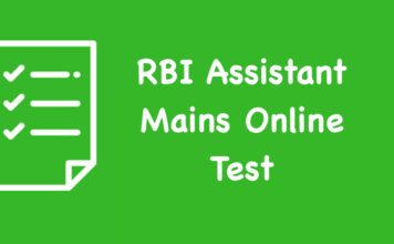 RBI Assistant Mains Online Test