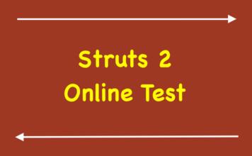Struts 2 Online Test