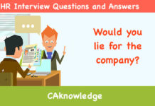 Would You Lie For The Company? U2013 HR Interview Questions And Answers