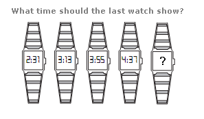 Clock puzzles Question 1