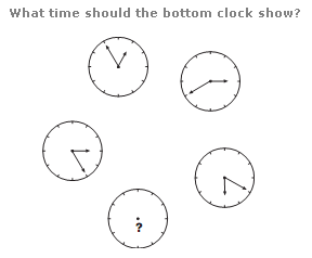 Clock puzzles Question 5