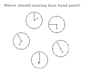 Clock puzzles Question 8