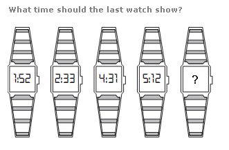 Clock puzzles Question 9