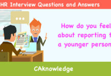 How do you feel about reporting to a younger person?