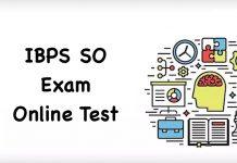 IBPS SO Online Test